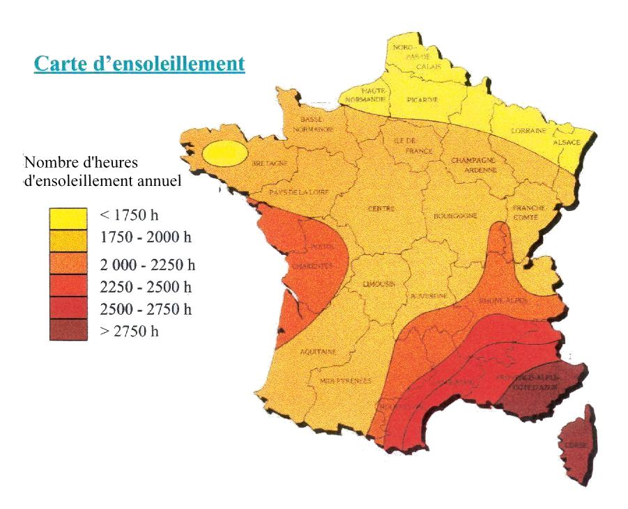 carte de france zone climatique